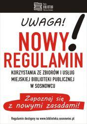 Nowy regulamin - plakat